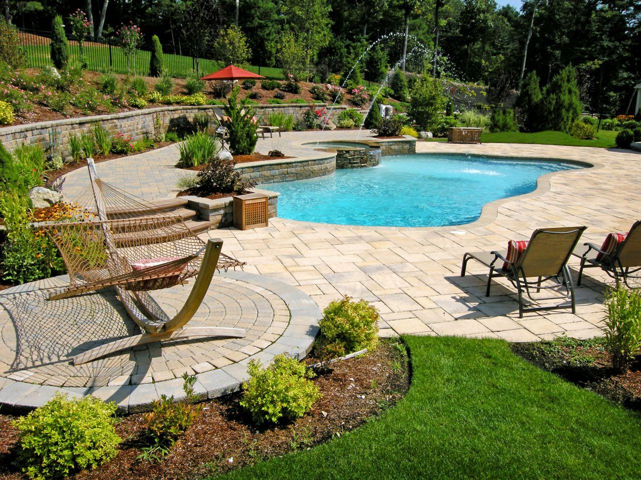 Beautiful Swimming Pool Patios   Triad Associates on Pool Patio Design id=81770