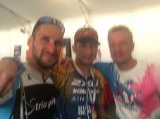 Etwas verschwommen das After-Race-Selfie mit meinen Kollegen Harald Eggebrecht und Bernd-Uwe Gutknecht