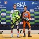 Marco Fioletti (Beta) et Maxime Varin (Scorpa) en 125