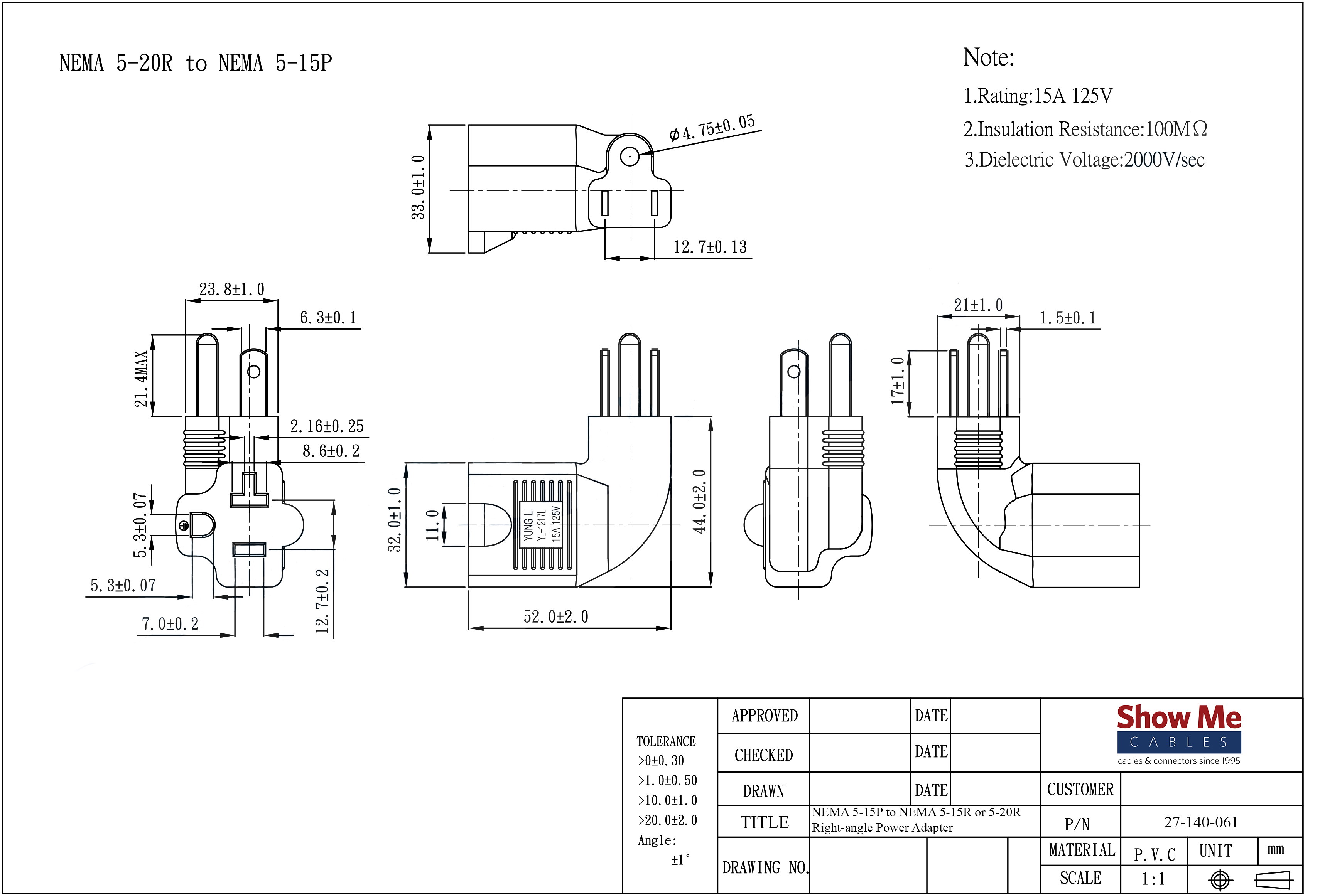 Nema 5 20r Wiring Diagram