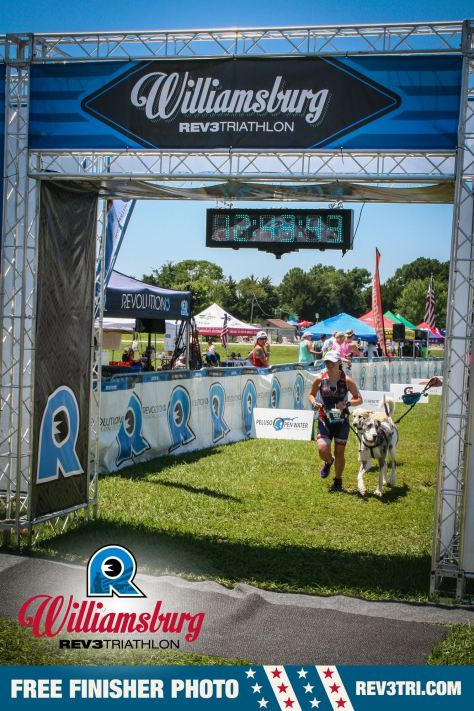 One of many Rev3 perks: this free finish line pic!