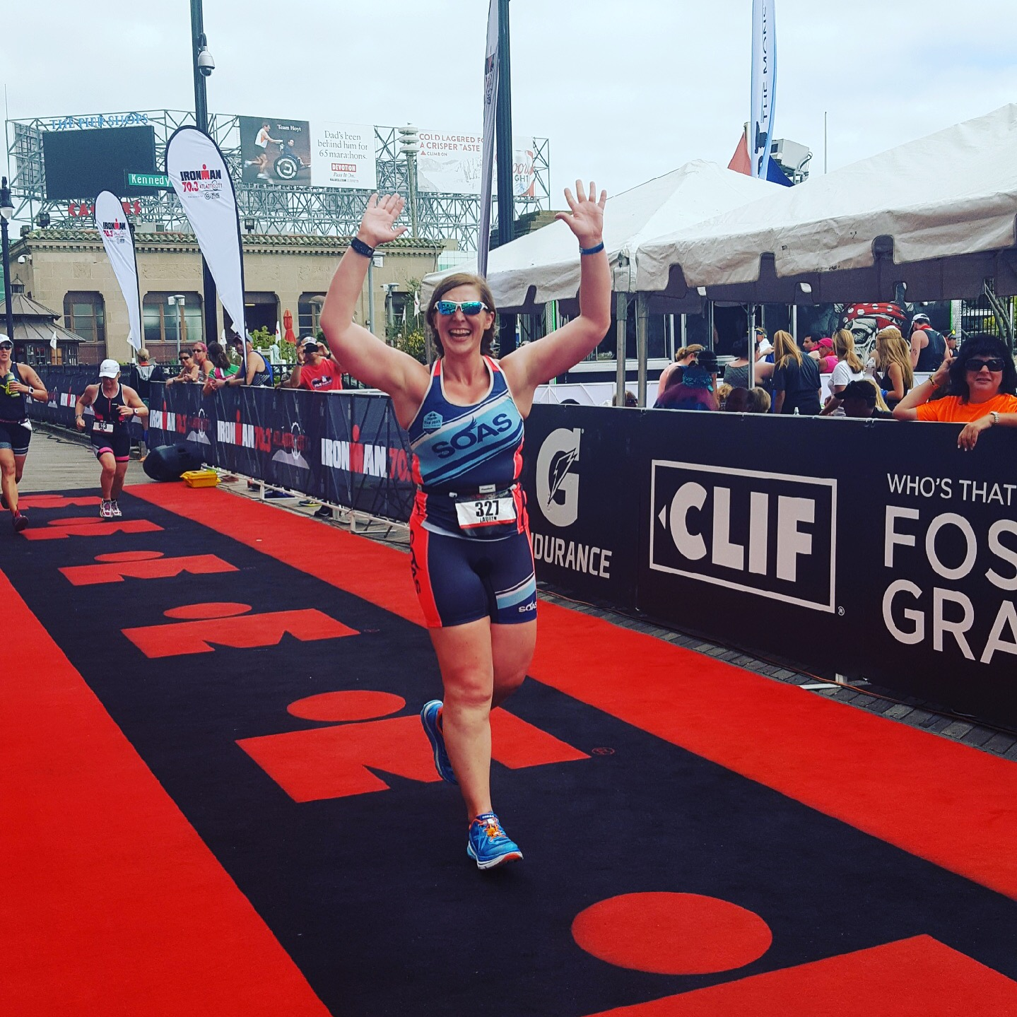 TriathLauren - Ironman 70.3 Atlantic City Finish Line