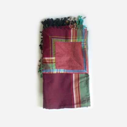 Maroon Green Stripe KKT06 Kikoy Towel