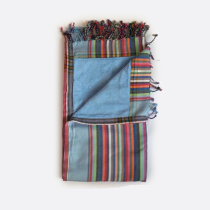 African Kikoy Towel Blue on sale New Zealand