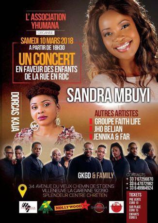 Concert Solidarité avec Sandra Mbuyi @ Splendeur Centre Chrétien | Villeneuve-la-Garenne | Île-de-France | France