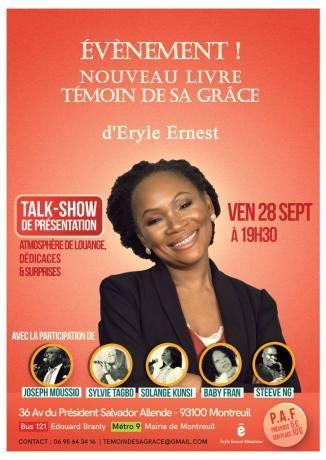 Talk Show de présentation du livre Eryle Ernest @ Eglise ACER | Montreuil | Île-de-France | France