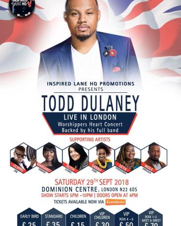 Todd Dulaney live in London @ Dominion Centre | England | Royaume-Uni
