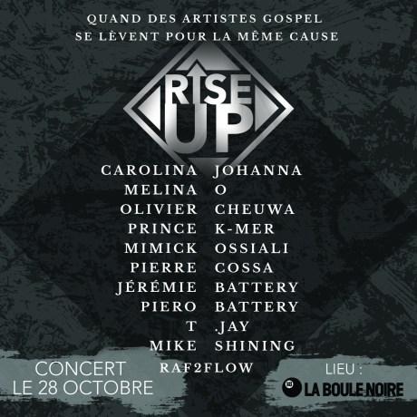Concert Rise Up! @ La Boule Noire | Paris | Île-de-France | France
