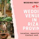 Wedding Venues in Rizal Province