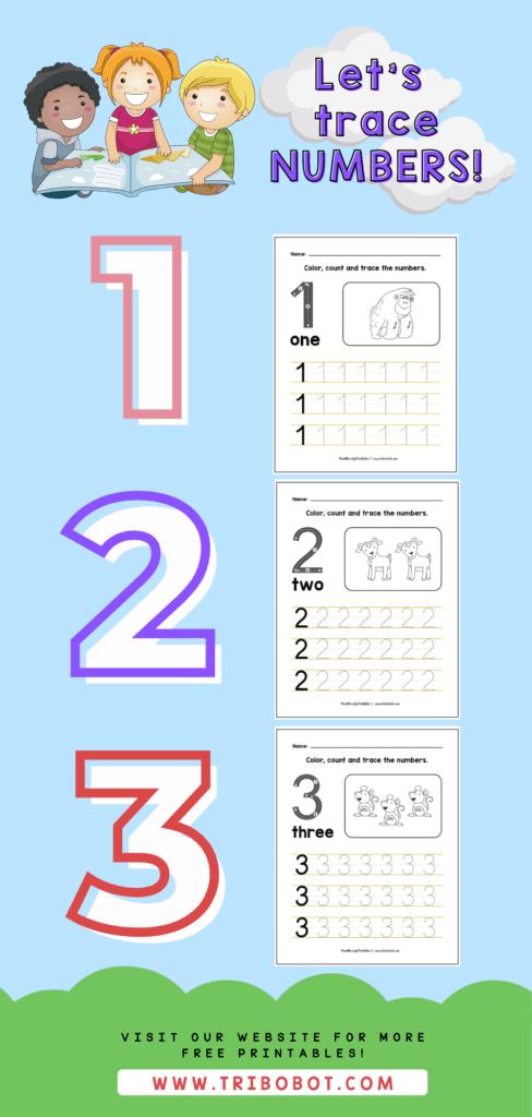 Tracing Numbers Free Printable