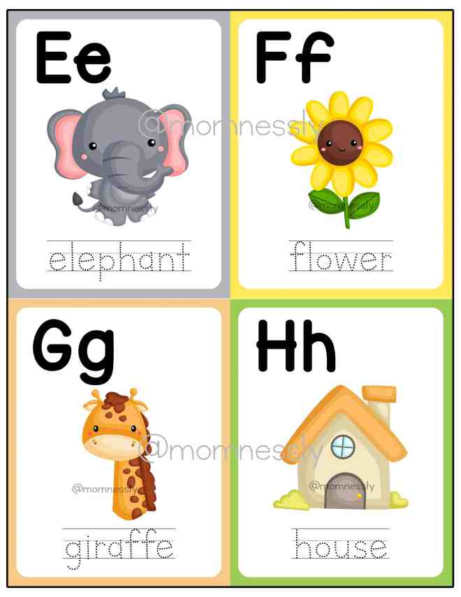 Free Printable: Alphabet Flashcards Uppercase and Lowercase
