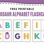 Free Dinosaur Alphabet Flashcards Printable