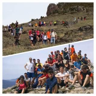 Alumnes de 4t curs de Grau d'Educació Primària Blanquerna. Cim del Roc Vermell (Alt Berguedà)