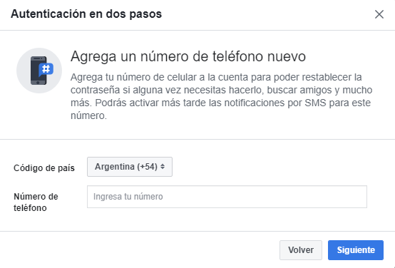 facebook doble factor
