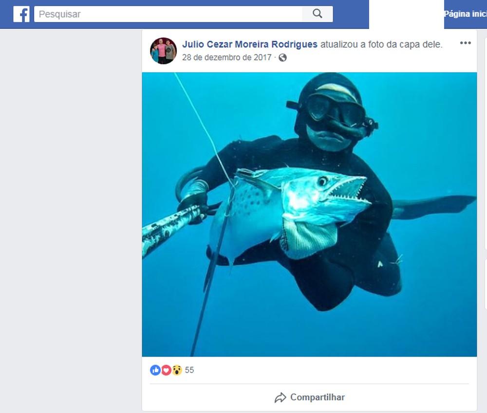 Mergulhadores buscam por professor de Educação Física que desapareceu durante pesca em SJB