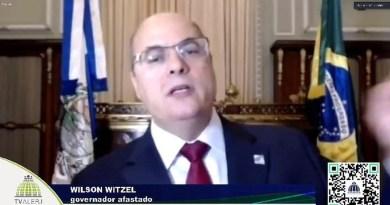 Por unanimidade, Alerj aprova continuidade do impeachment de Witzel e autoriza processo por crime de responsabilidade