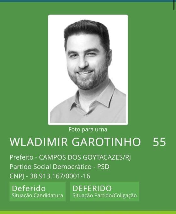 """Wladimir Garotinho: """"O meu registro está deferido e a campanha segue normalmente"""""""