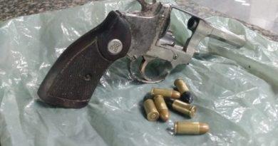 Homem é preso com revólver em Gargaú, em SFI