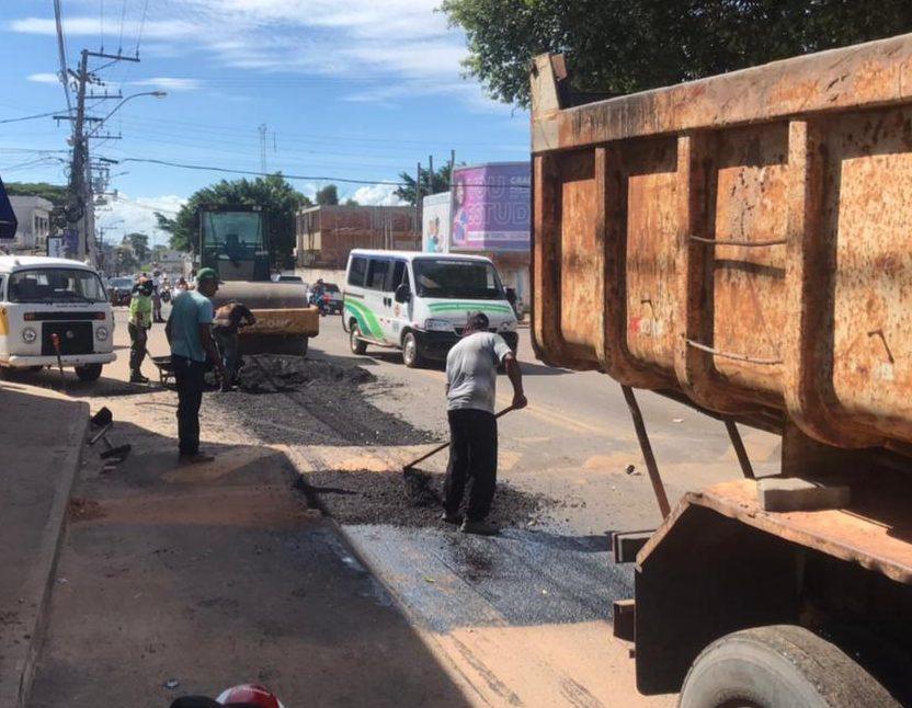 SFI: Manutenção de vias públicas na área central e na localidade de Boca da Areia
