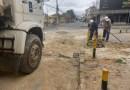 Construção de galeria de drenagem e desobstrução de rede na rua Arthur Nogueira