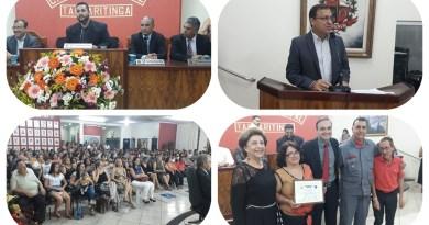 Sessão solene para entrega de certificados é realizada na Câmara Municipal de Taquaritinga (SP)