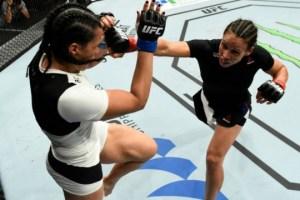 Talita Bernardo estreou com derrota. Foto: Getty Images.
