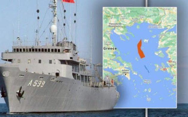 Το «Τσεσμέ» εισέβαλε στο Αιγαίο – Δεν συνοδεύεται από πολεμικά πλοία