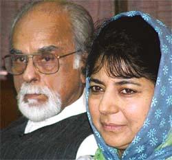 Mehbooba Mufti & I.K. Gujral