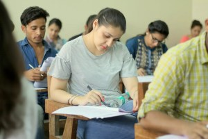 Students appearing for Common Entrance Test (CET) Post Graduate (PG) 2018 Entrance Test