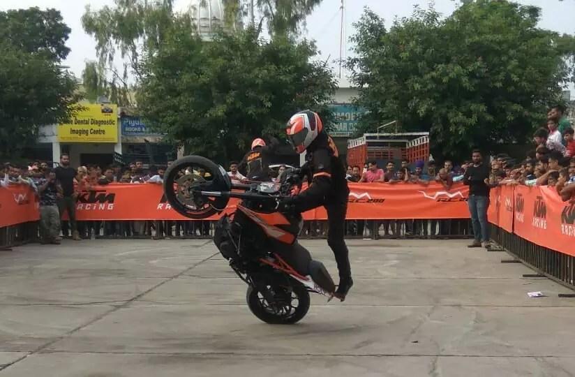 Bajaj KTM organises a spectacular Stunt show in Jalandhar