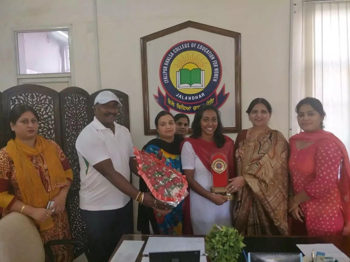 Shivangi of LAYALLPUR Khalsa colleg of Education ( B.Ed) ceates history