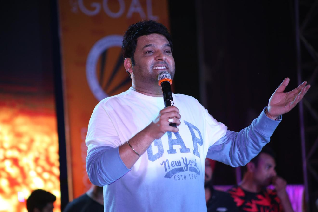 Bollywood's renowned actor, mimicker, producer, Kapil Sharma tickled everyone's funny bone present among the audience