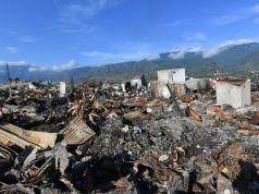 Kondisi salah satu lokasi pasca gempa dan tsunami di Palu dan Donggala
