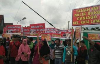Warga Kunto Darussalam Desak PT SJI Coy Kembalikan 625 H Tanah Suku Caniago