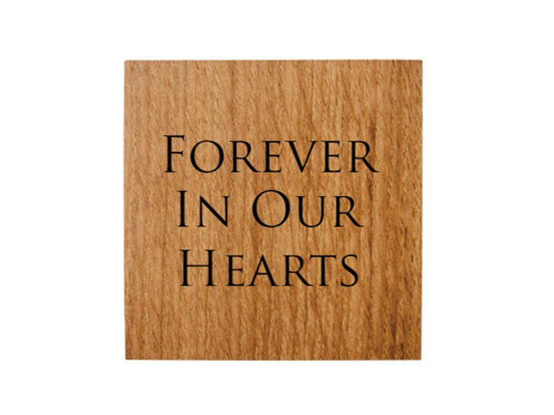 We can engrave your message to personalise your pet's urn keepsake or memorial
