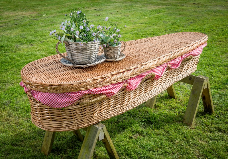 woven willow coffin