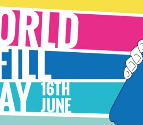 world refill day logo - choose to reuse and cut plastic pollution