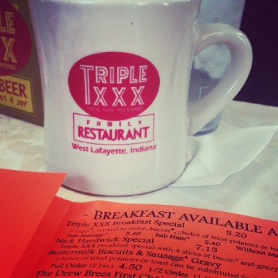 Triple XXX Diner in West Lafayette, Indiana