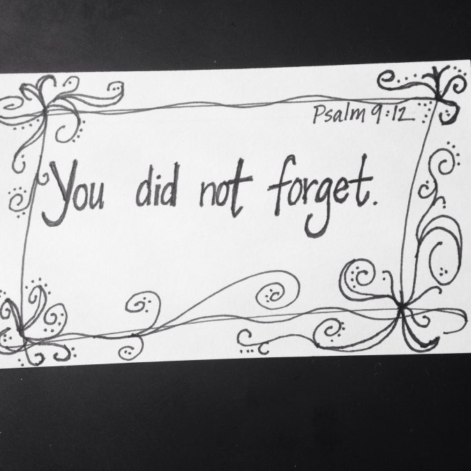 """""""You Did Not Forget."""""""