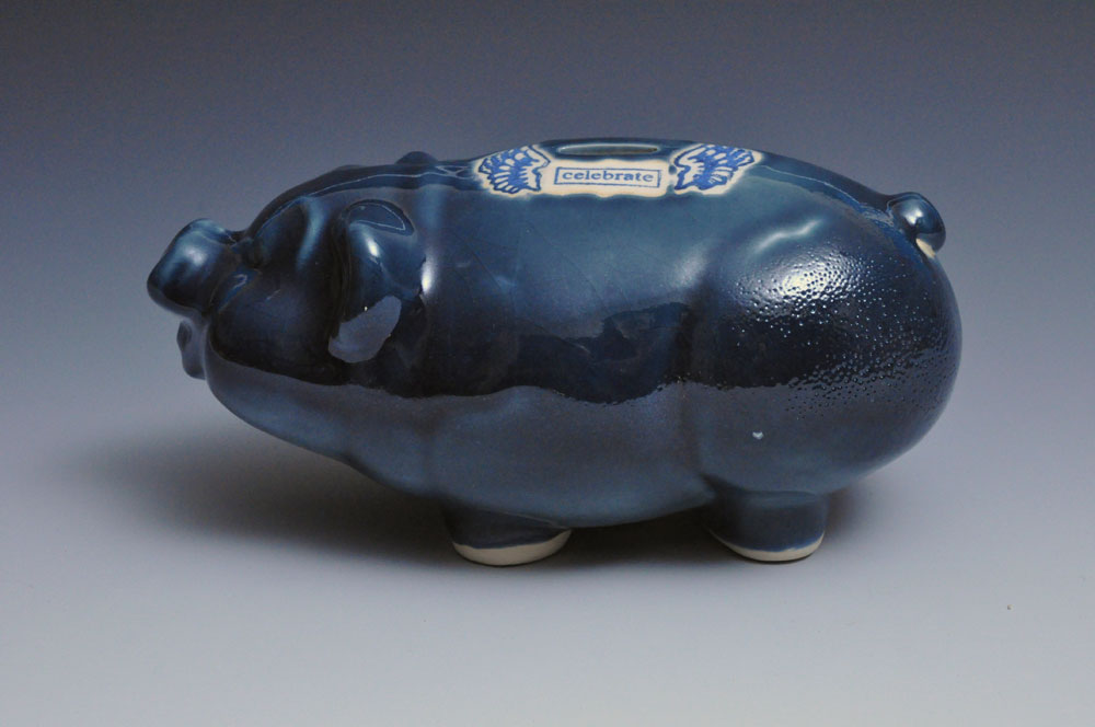 Midnight Blue Porcelain Piggy Bank | Tricia Ree McGuigan