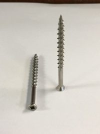Square Drive Trim Screw Stainless 18-8