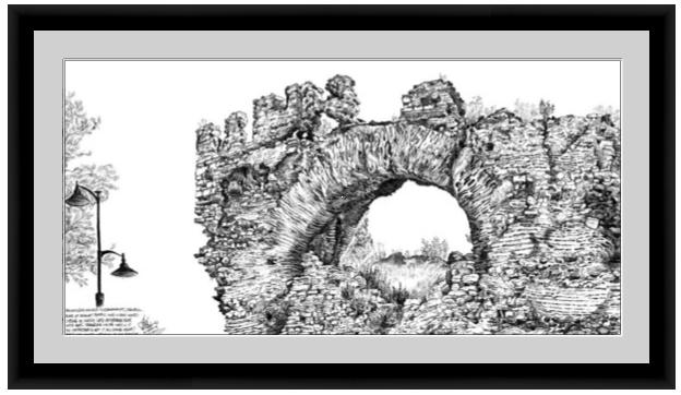 Framed Print Mockup of the Big Boukoleon Arch