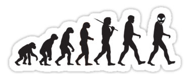 evolution monkey to alien