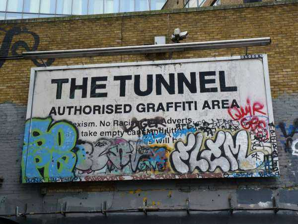The Old Vic Tunnel - Warning