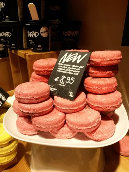 Lush products on shelved