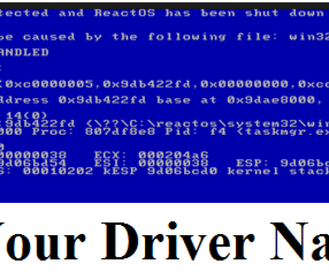 That Particular Corrupted Driver After Finding The Driver Name Just Update Or Uninstall Driver Which Is Causing The Kmode Exception Not Handled Error