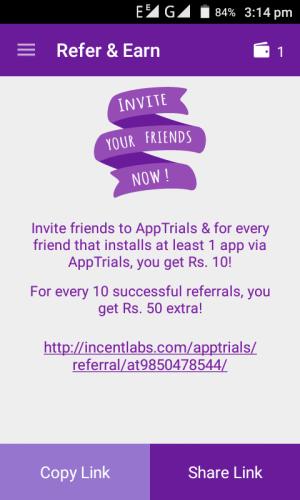 app trials free recharge earning app