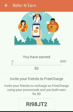 freecharge refer and earn