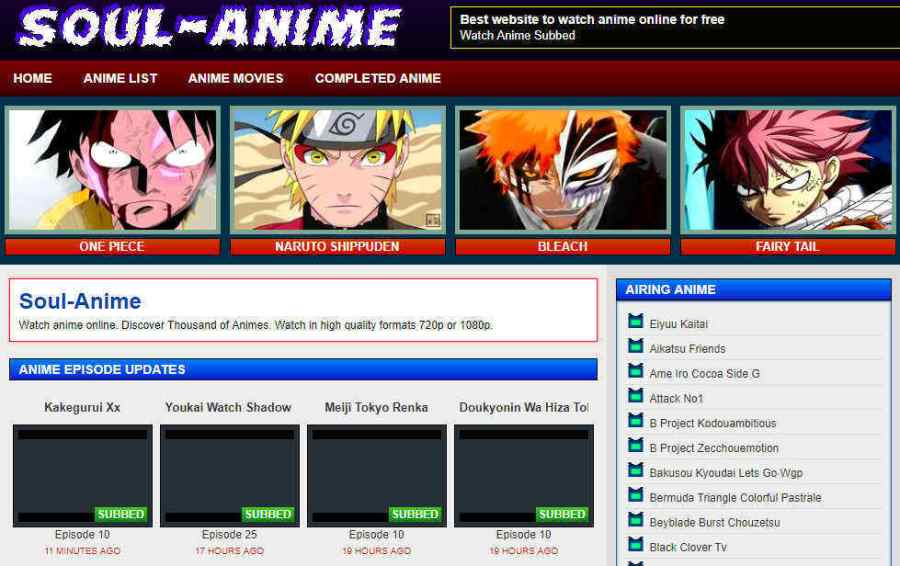 free anime download sites