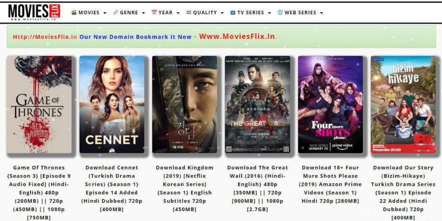 sites for downloading movies english